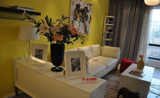 中集幸福里精装样板房客厅布景